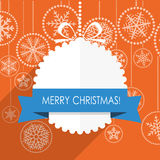 Christmas greeting card with snowflakes on background Stock Images