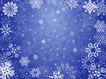 Christmas greeting card with snowflakes Royalty Free Stock Photos