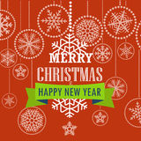 Christmas greeting card with snowflakes Stock Photography