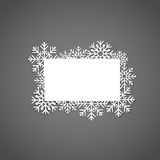 Christmas Greeting Card with snowflakes, vector illustration. Christmas Greeting Card with snowflakes, vector illustration Stock Photo