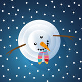 Christmas Greeting Card with snowman Royalty Free Stock Image