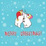 Christmas greeting card. Snowman. Vector illustration. Stock Photo