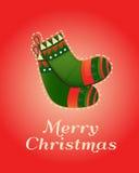 Christmas greeting card. Christmas greeting card with socks. Vector illustration xmas celebration. Festive template for banner, invitation, cards, flyers, cover vector illustration