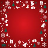 Christmas greeting card with space  pattern background vector illustration Royalty Free Stock Photo