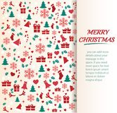 Christmas greeting card with space  pattern background vector illustration Royalty Free Stock Images