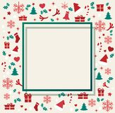 Christmas greeting card with space  pattern background vector illustration Stock Images