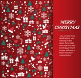 Christmas greeting card with space  pattern background vector illustration Stock Image