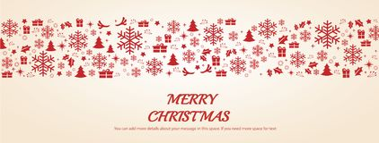 Christmas greeting card with space pattern background vector illustration.  royalty free illustration