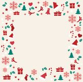 Christmas greeting card with space  pattern background vector illustration Royalty Free Stock Photos