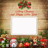Christmas greeting card with space for photo or text Stock Images