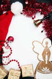 Christmas Greeting card with space for text, Stock Images