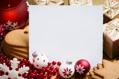 Christmas Greeting card with space for text Stock Images