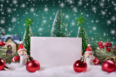 Christmas greeting card with space for text Stock Photography