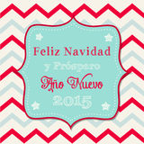 Christmas greeting card in spanish Stock Photos