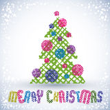 Christmas greeting card with special font and hand drawn lines t Royalty Free Stock Photo