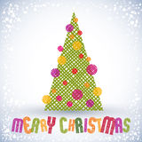 Christmas greeting card with special font and hand drawn lines t Royalty Free Stock Images