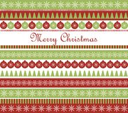 Christmas greeting card. Striped card with Christmas greetings Stock Images