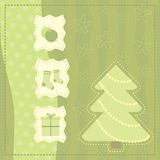 Christmas greeting  card with symbols of a Christmas Stock Image