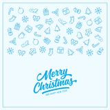 Christmas greeting card template background. Vector vintage illustration. Christmas greeting card template background. Merry Christmas lettering inscription Royalty Free Stock Images