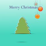 Christmas greeting card template Stock Photos