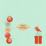 Christmas greeting card template Stock Photos