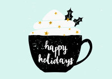 Christmas Greeting Card Template Stock Photography