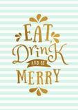 Christmas Greeting Card Template Stock Image