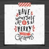 Christmas Greeting Card Template Royalty Free Stock Photo