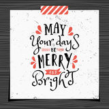 Christmas Greeting Card Template Royalty Free Stock Images