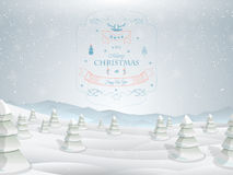 Christmas greeting card template vector. Stock Images