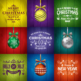 Christmas greeting card templates Stock Photo