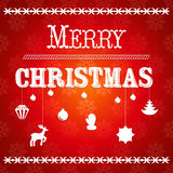 Christmas greeting card with the text Merry Christmas vector Stock Photography