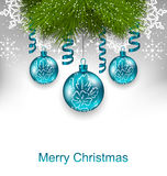 Christmas Greeting Card with Traditional Adornment Royalty Free Stock Image
