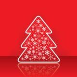 Christmas greeting card with tree Stock Photo