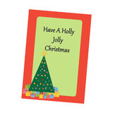 Christmas Greeting Card. Christmas Tree on the green background. Vector illustration Stock Photo