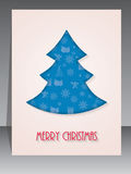 Christmas greeting card with tree shape Stock Images