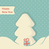 Christmas Greeting Card. Christmas tree, vector illustration Royalty Free Stock Images