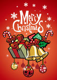 Christmas greeting with card Stock Photo