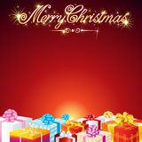 Christmas Greeting Card Vector Background Stock Image