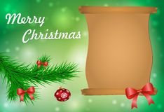 Christmas greeting card. Vector illustration Royalty Free Stock Photography