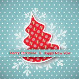 Christmas greeting card. Stock Photo