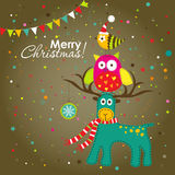 Christmas greeting card, vector Stock Image
