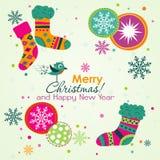 Christmas greeting card, vector Stock Image