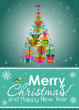 Christmas greeting card, vector Royalty Free Stock Photography