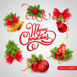 Christmas greeting card. Vector illustration Stock Images