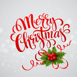Christmas greeting card. Vector illustration Stock Photos