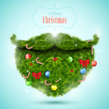Christmas greeting card vector illustration. Royalty Free Stock Photo