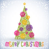 Christmas greeting card, vector, Merry Christmas lettering. Royalty Free Stock Image