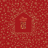Christmas Greeting card. Vector Xmas Background Royalty Free Stock Photography