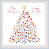 Christmas Greeting card. Vector Xmas Background Stock Photography